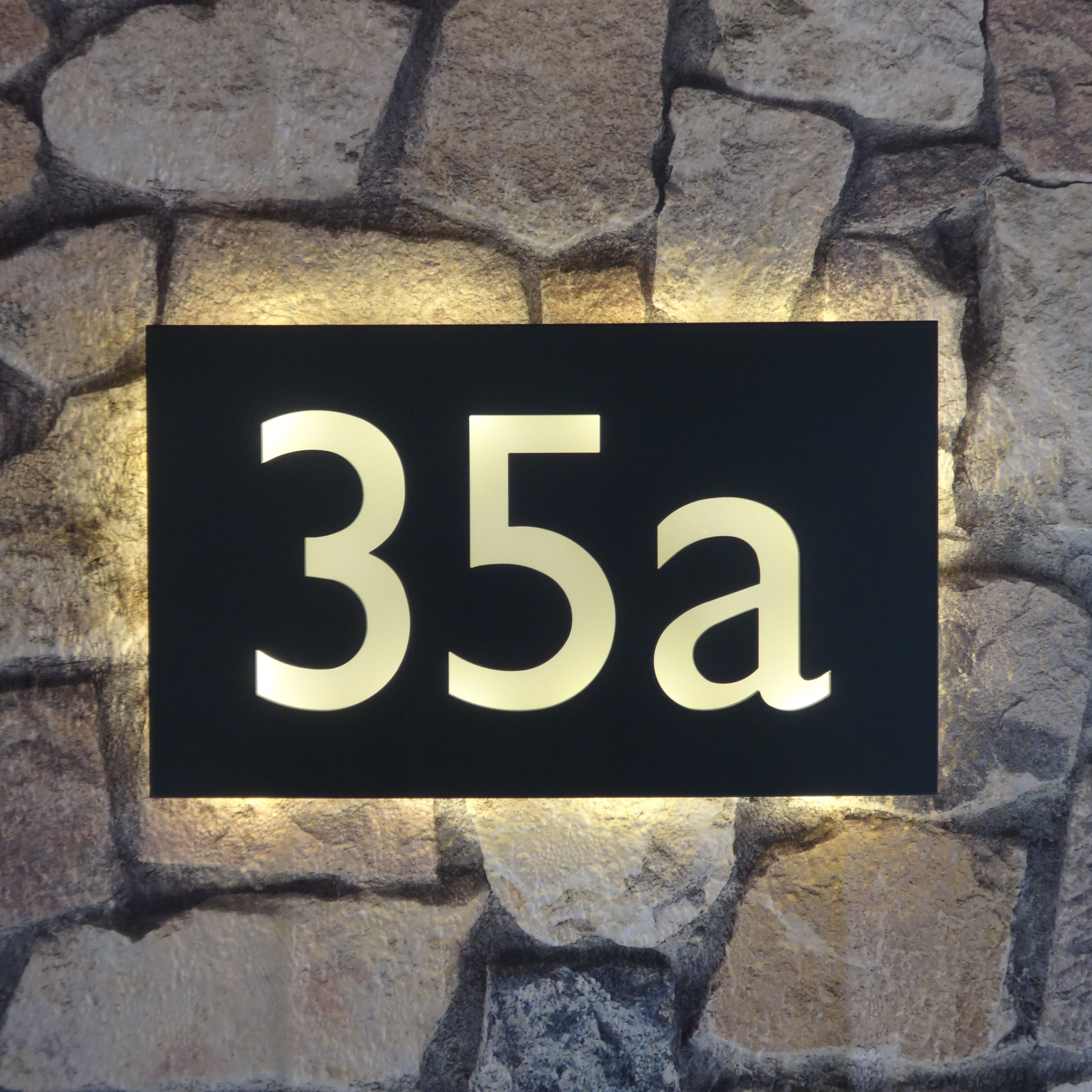 Illuminated House Number Plaque Gill