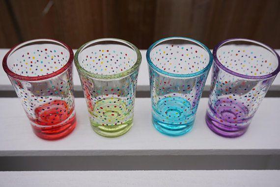 Confetti Rainbow Shot Glasses