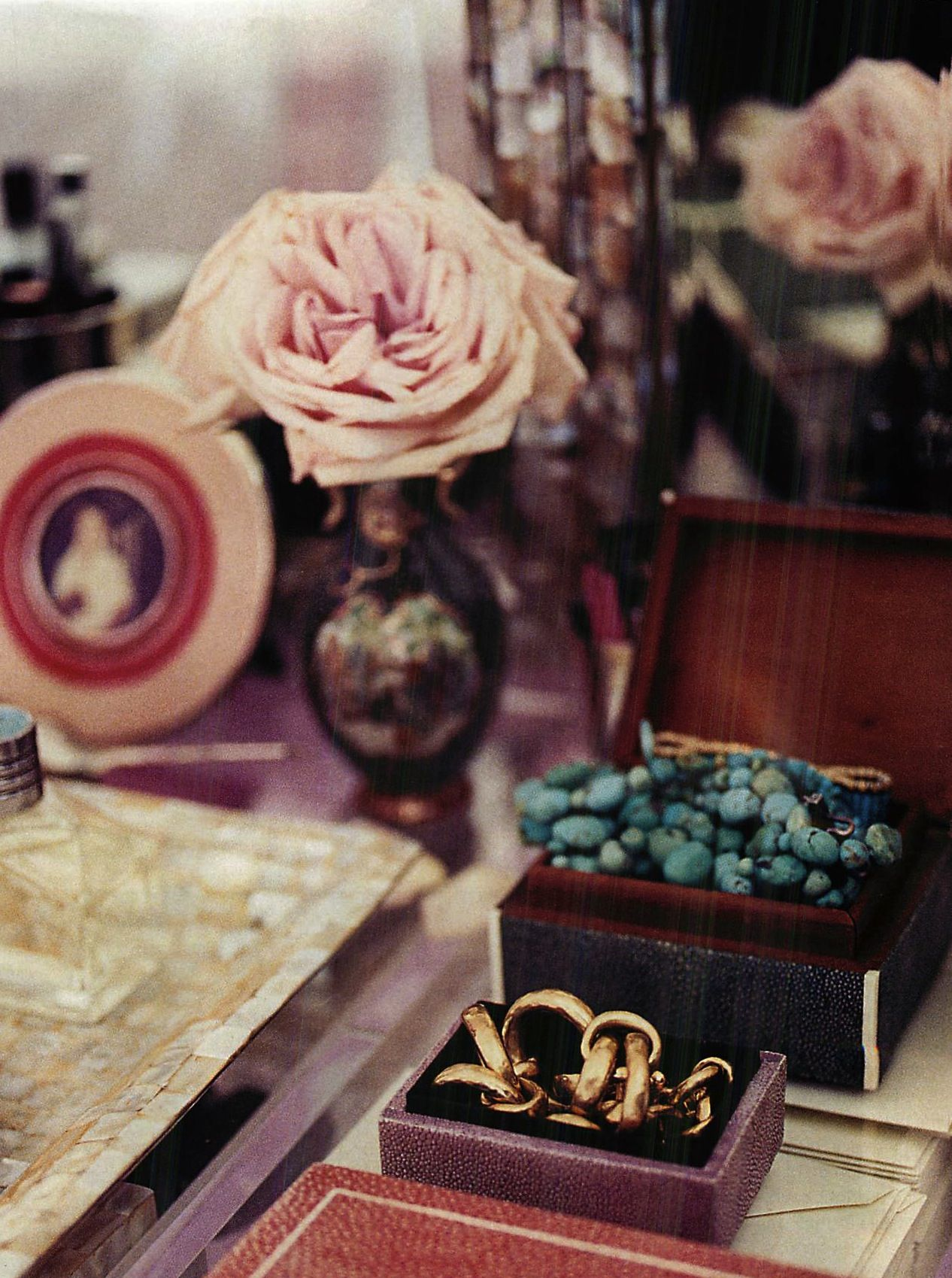 Flowers on a vanity are always pretty style begins at home
