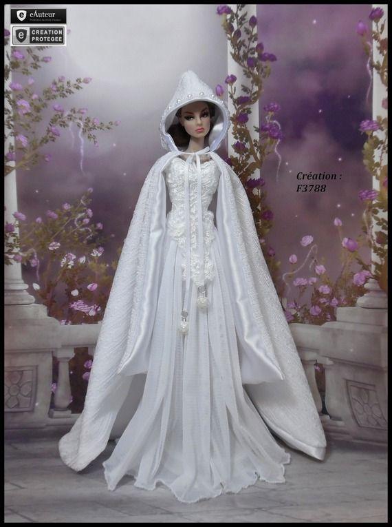"""Robe Barbie """" Morgane """" Ensemble pour poupée Barbie fashionistas et autres f3788"""