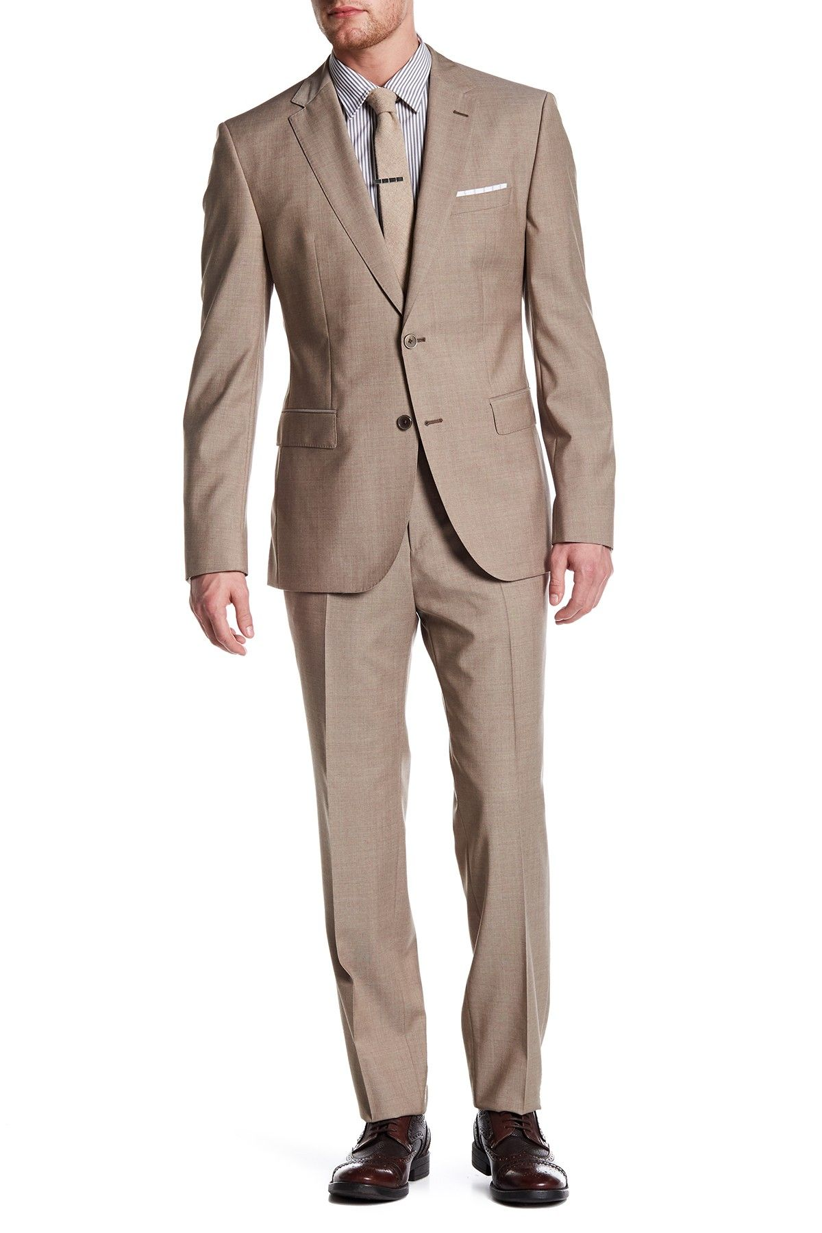 d7d1ea049 Jewels/Linus Two Button Notch Lapel Trim Fit Wool Suit | Products ...
