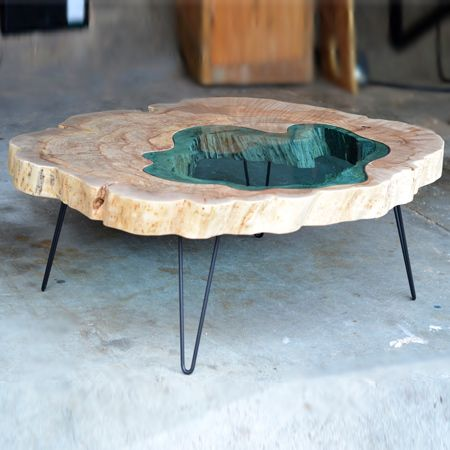 Bon The U0027Pond Tableu0027, Another Greg Klassen Creation, Is Given Life By Working  With Rough Wood Slabs And A Variety Of Different Tools To Bring The  Material To ...