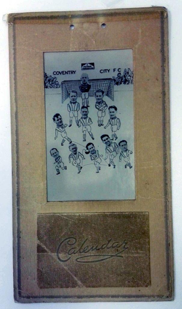Coventry City FC 1951 calendar