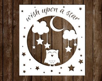 Paper cutting templates for beginners enchanted life knk personal use paper cutting template wish upon a star owl paper cutting template pronofoot35fo Gallery