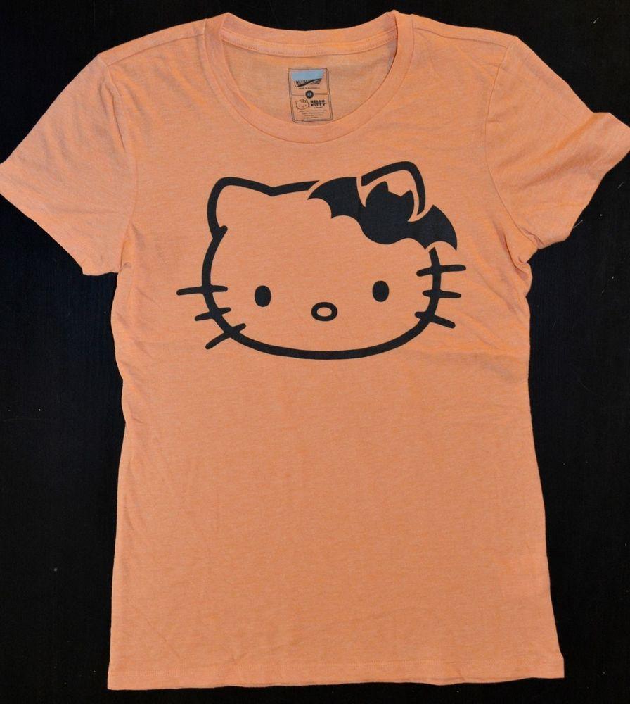 Old Navy Collectabilitees T-Shirt Hello Kitty Batman Bow Orange Women Size S #OldNavy #GraphicTee
