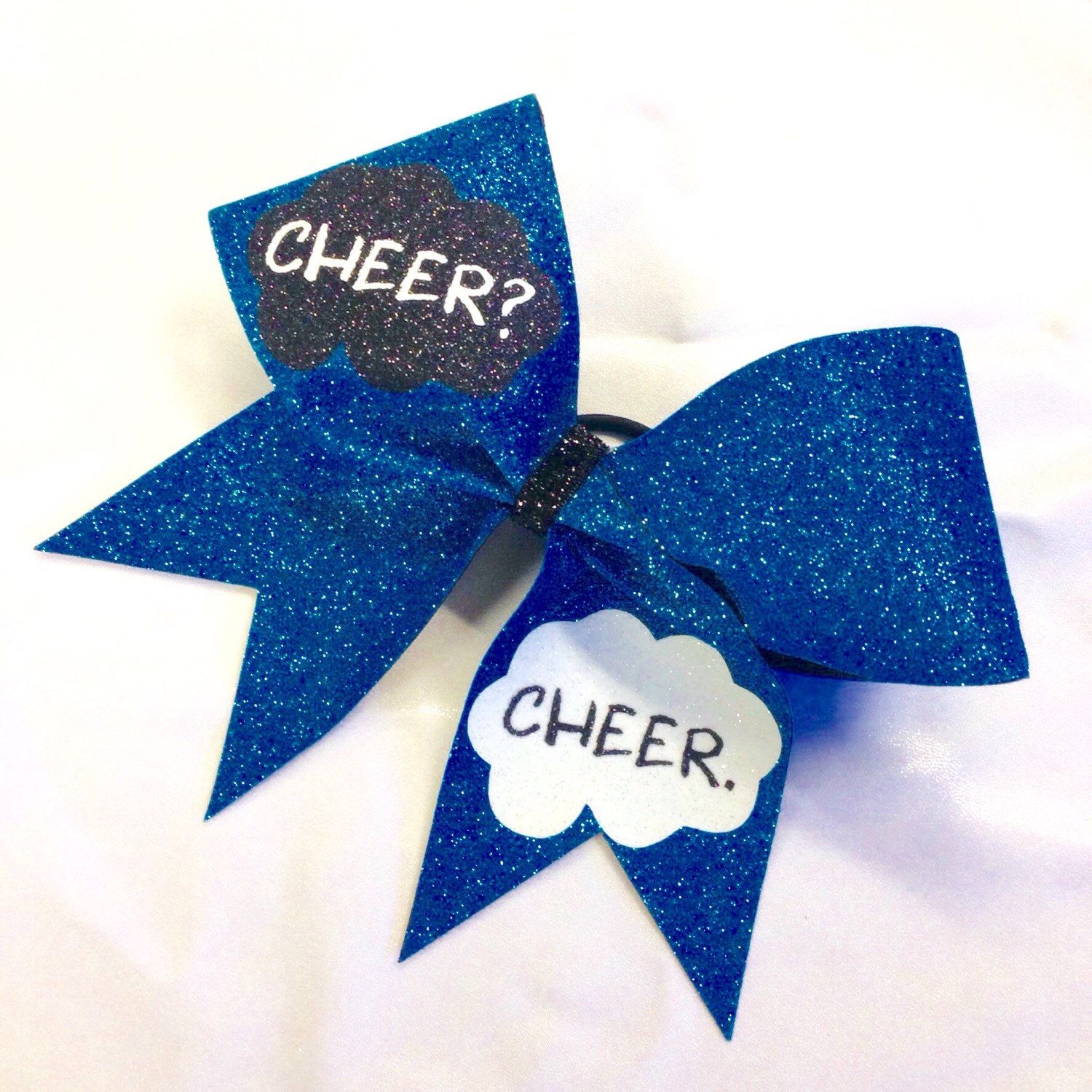Cheer? Cheer. - Cheer Bow by BlingItOnDesignsCA on Etsy https://www.etsy.com/listing/200668053/cheer-cheer-cheer-bow