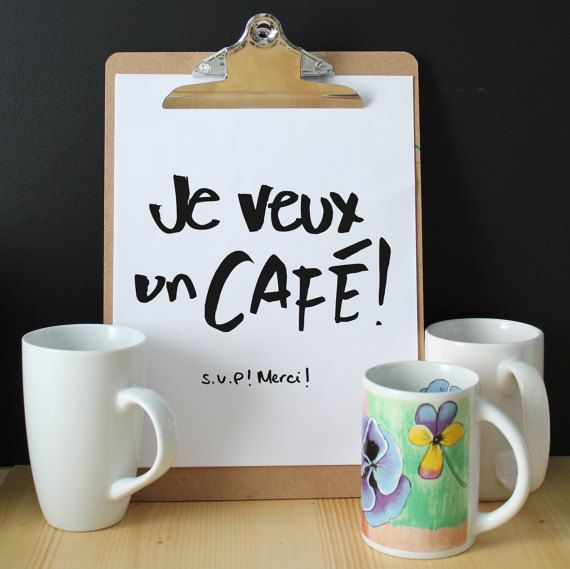 I want a coffee Please Thanks Displays by FidelesCompagnons