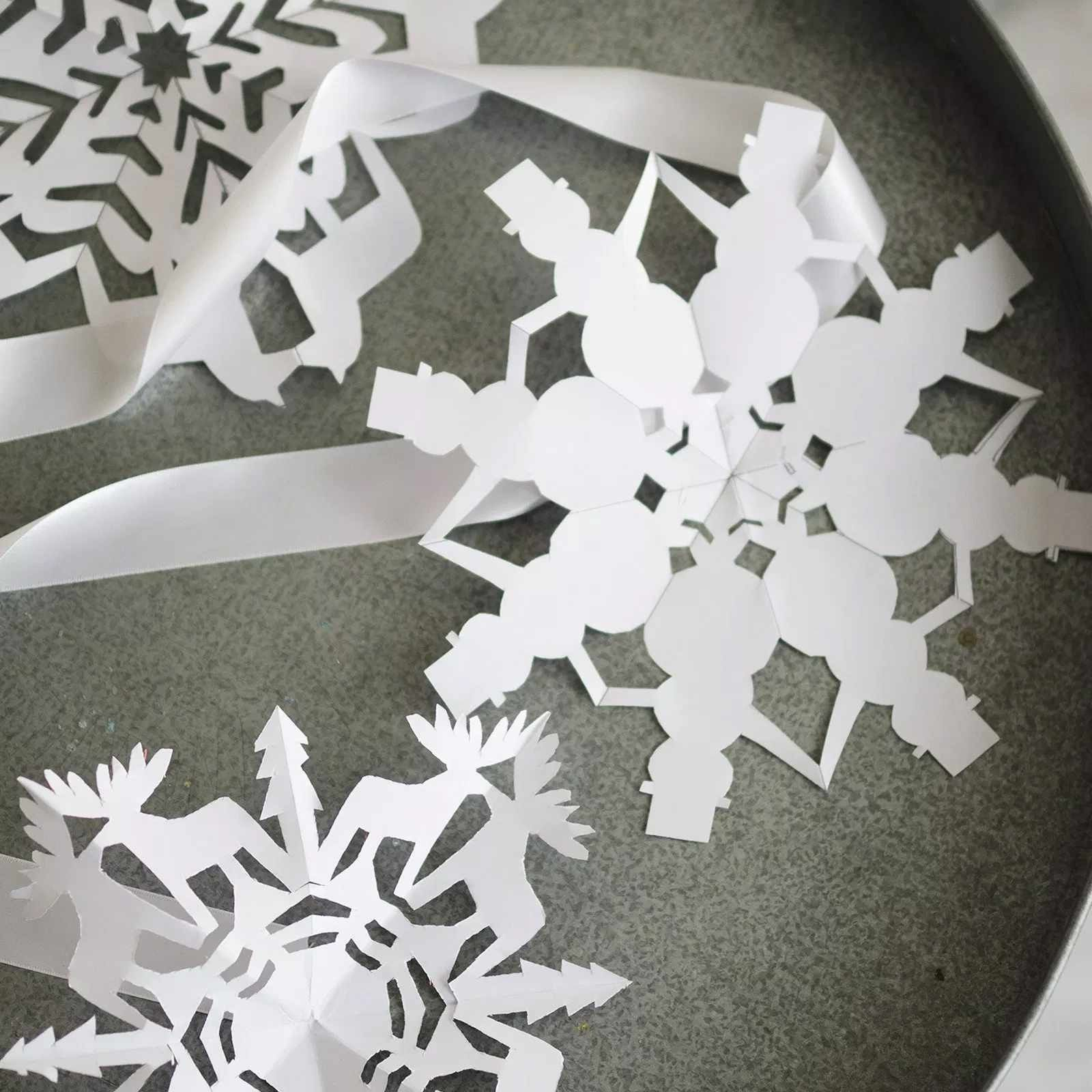 4 Worksheet 65 Paper Snowflake Template Paper Projects 9
