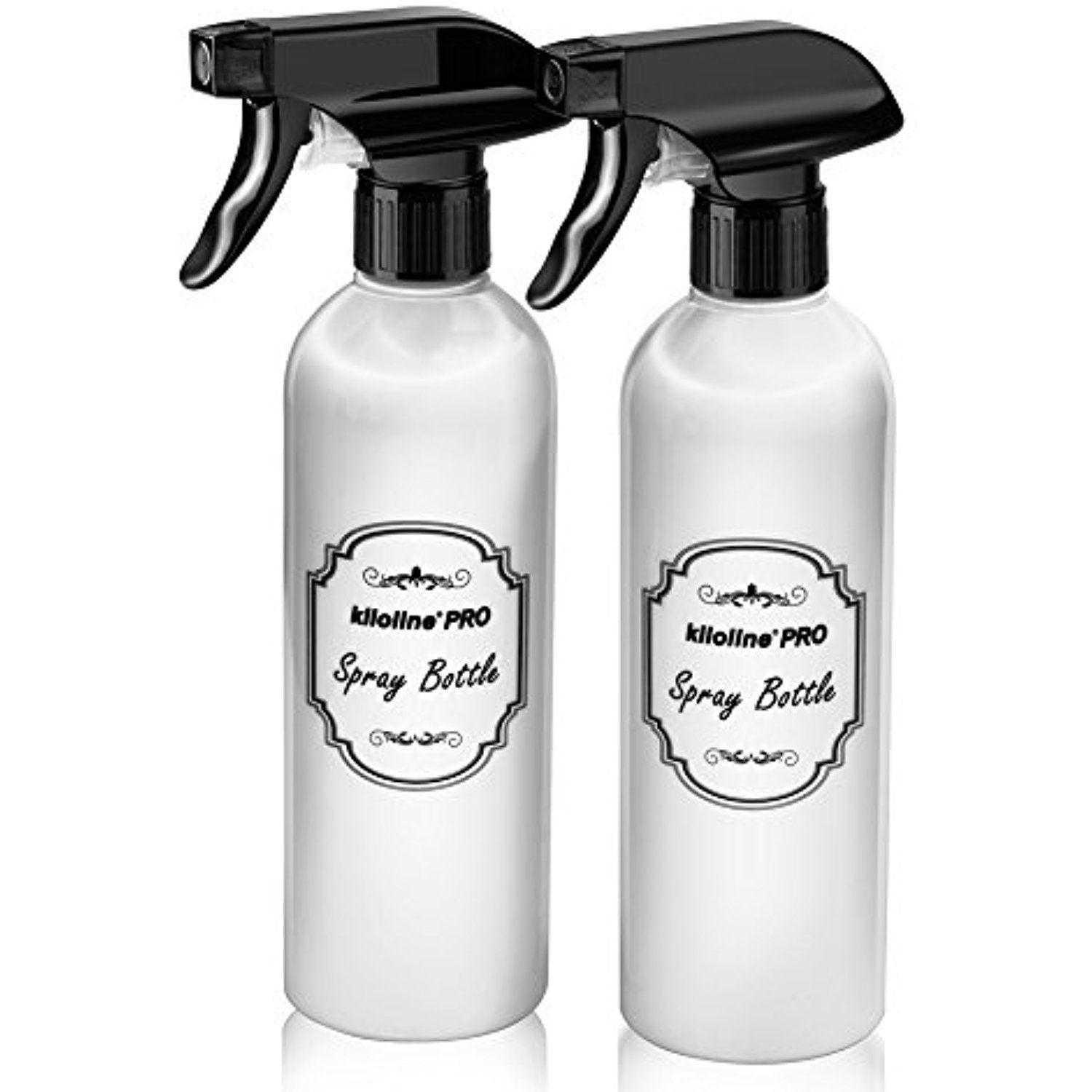 c2328d5f4a86 Kiloline Pro Spray Bottles (2-Pack) Refillable 17 oz. White Plastic ...
