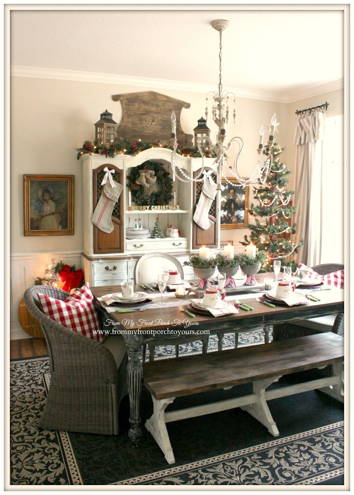 french farmhouse vintage christmas dining room dining room design dining room furniture on farmhouse kitchen xmas id=79330