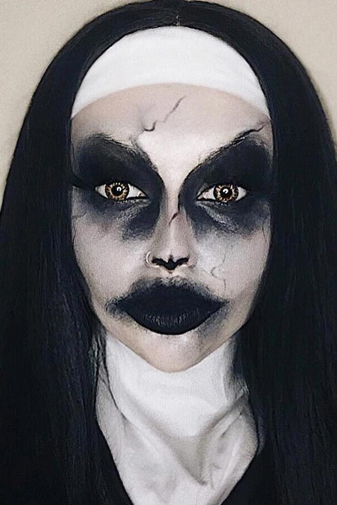 Nun Halloween Makeup #nunmakeup Truly scary Halloween makeup is what can make yo…