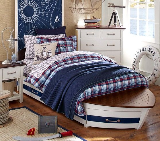 Speedboat II Bed & Trundle | Pottery Barn Kids...Must have this ...