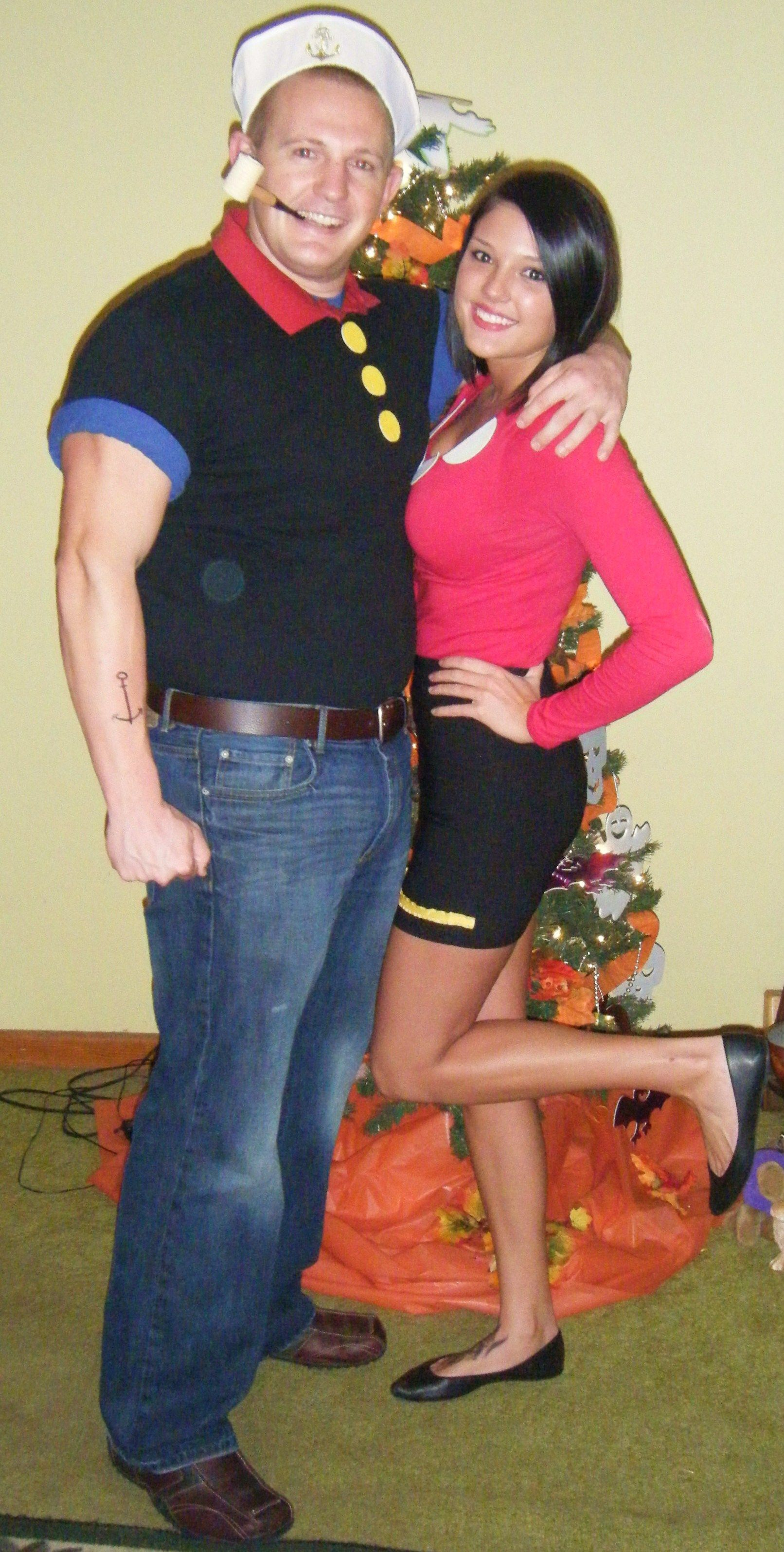 Popeye Olive Oyl Homemade Costumes Lb Make It Hen For Next Year