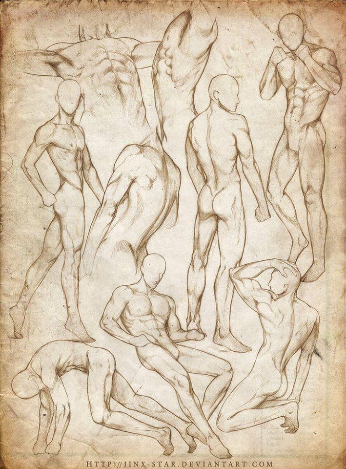 Posturas masculinas | Estudio cuerpo humano | Pinterest | Dibujo ...