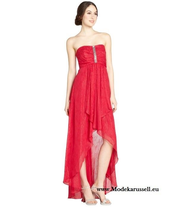 Rotes Chiffon Vokuhila Abendkleid | Vokuhila abendkleid ...