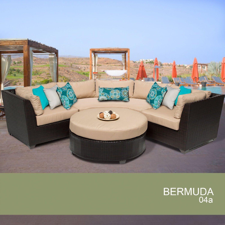 Brilliant Amazon Com Bermuda 4 Piece Outdoor Wicker Patio Furniture Machost Co Dining Chair Design Ideas Machostcouk
