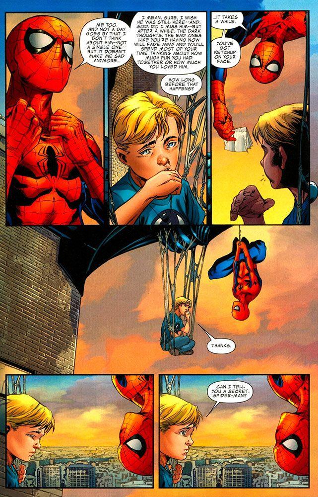 Spider-Man consoles Franklin Richards -