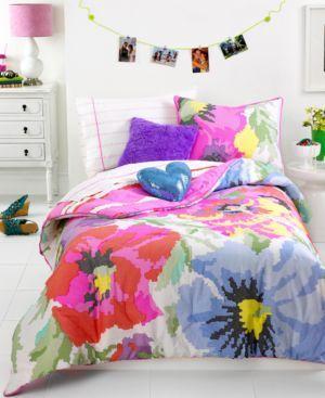 teen vogue neon needlepoint comforter set