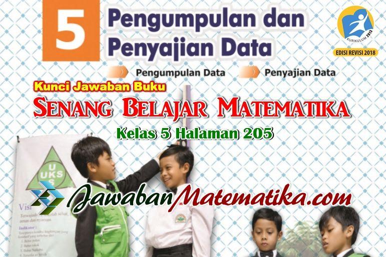 Kunci Jawaban Matematika Kelas 5 Halaman 205 Matematika Kelas 5 Matematika Buku