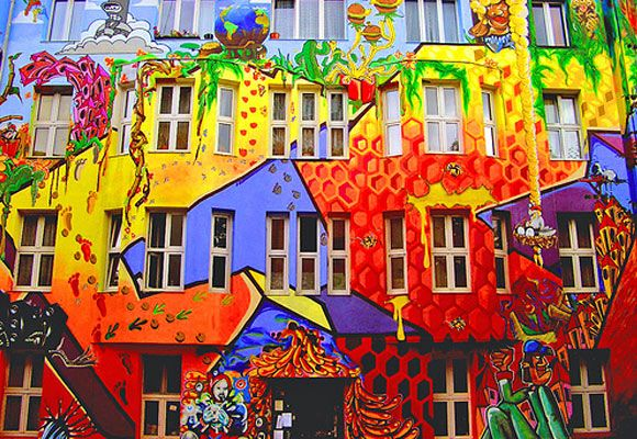 Street Art. Color schemes are amazing in graffiti work