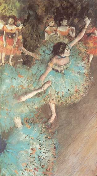 The Green Dancers - Degas