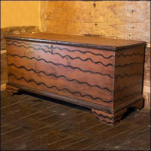 antique painted new england blanket chest | Antiques