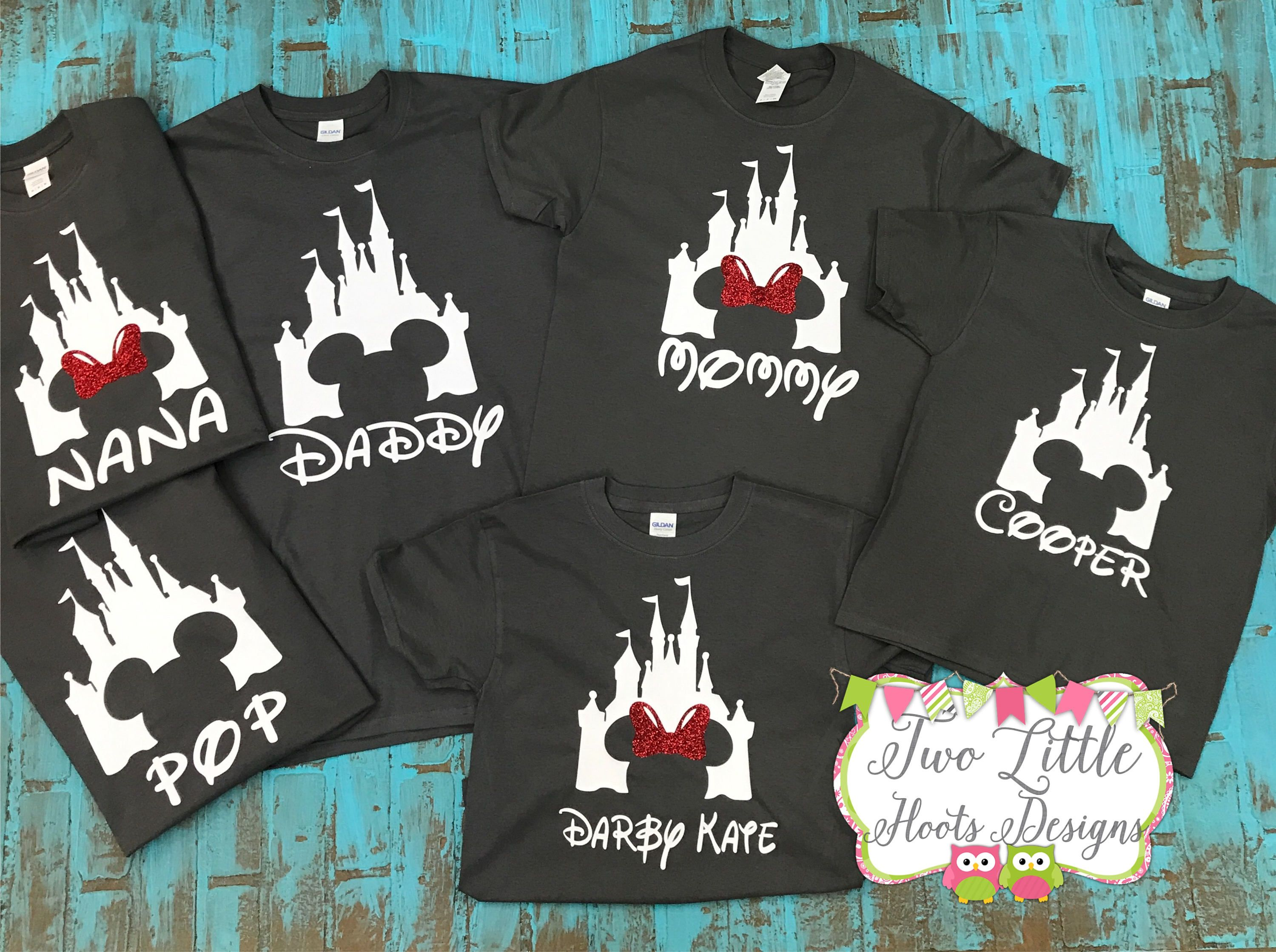 Disney Shirts Personalized Trip Castle Group Mickey Shirt Minnie By TwoLittleHootsDesign On