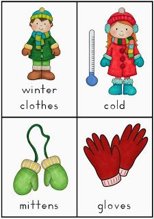 Making and Writing Winter Sentences for Kindergarten vocabulary and sentence work$