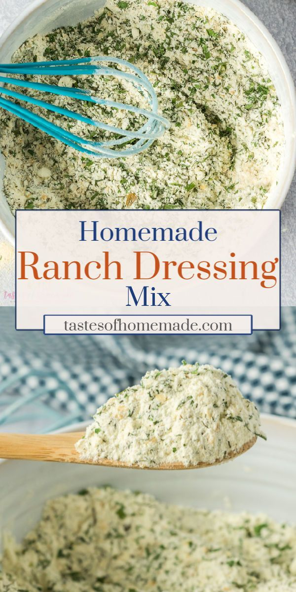 Homemade Ranch Dressing Mix This is the homemade ranch dressing mix is the best With just a few simple ingredients you can make your own ranch dressing and dip at home Lo...