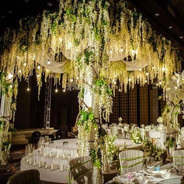 200m Artificial Vines Fake Garden Hanging Flower Plant Vine Wedding Decors