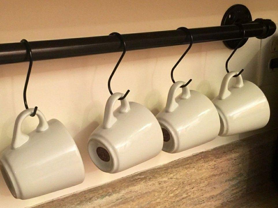 Mug Display Wall Coffee Bar Mug Shelving Rack Mug Hooks Diy Mug Display Mug Wall Rack Shelving Racks