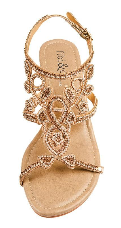 778eba054 Elegant sandals to dress up any summer outfit. Don t want to go barefoot on  the beach  These three bridal-ready
