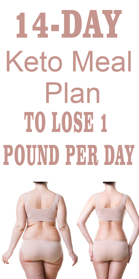 14-Day Keto Meal Plan To Lose 1 Pound Per Day in 2020 ...