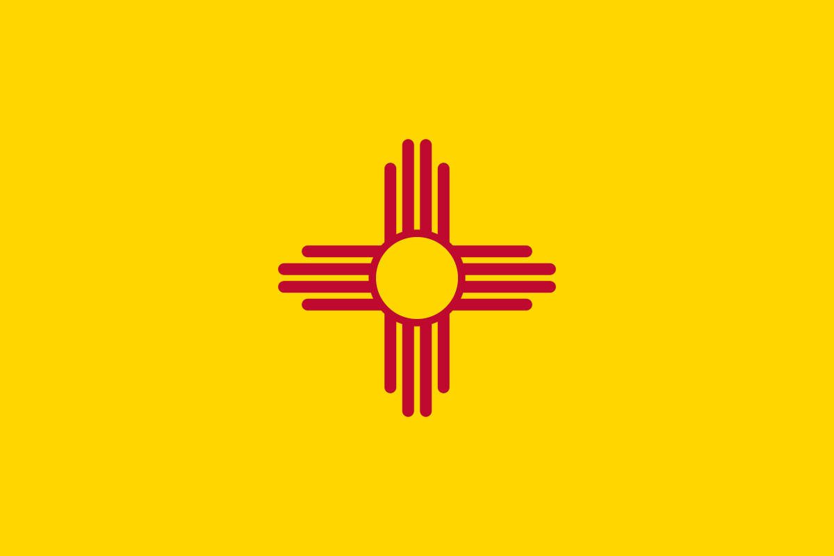 New Mexico State Flag New Mexico State Flag New Mexico Flag Flag Coloring Pages