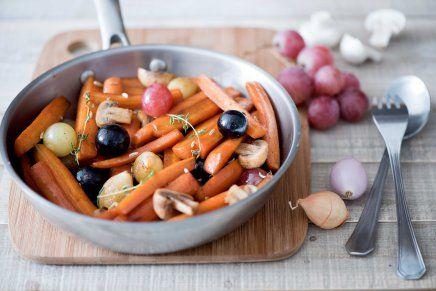 poêlée carottes champignons raisins - DR Mon Quotidien Autrement - E. Montuclard