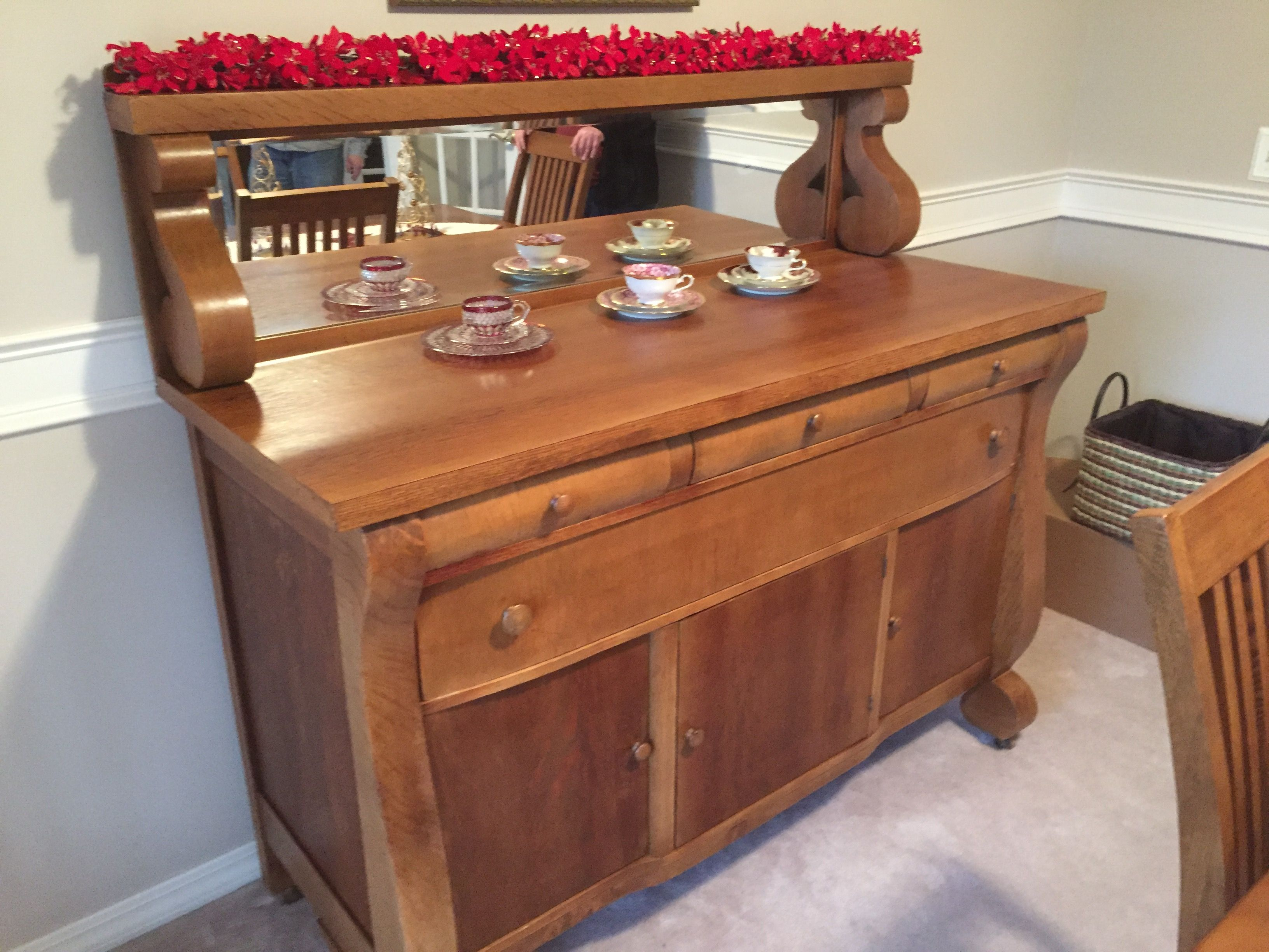 Restored Buffet By Furniture Repair By Frys.