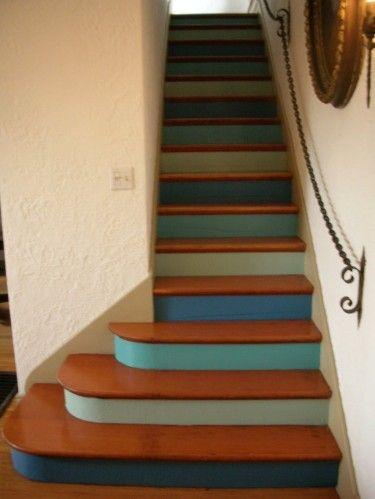 relooker des escaliers d co pinterest bleu balayage ombr et escaliers. Black Bedroom Furniture Sets. Home Design Ideas