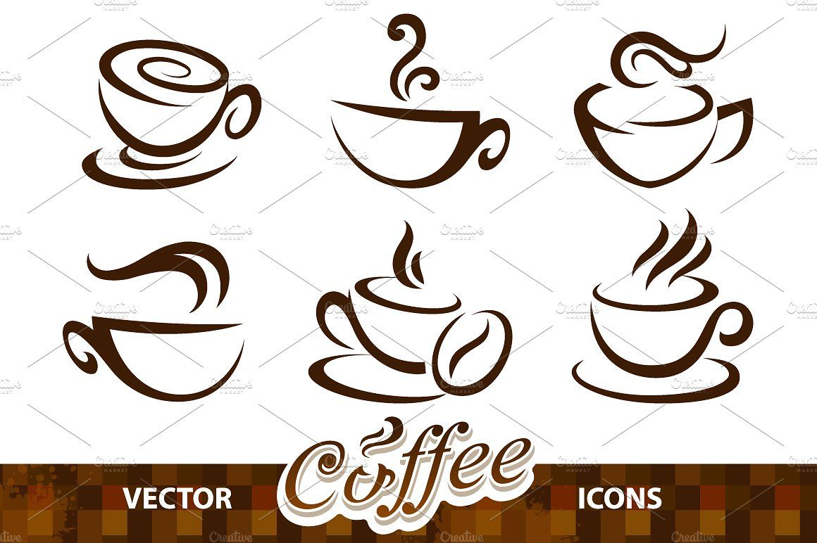 Coffee Cup Vector Icons Vector icons, Vector, Coffee cup
