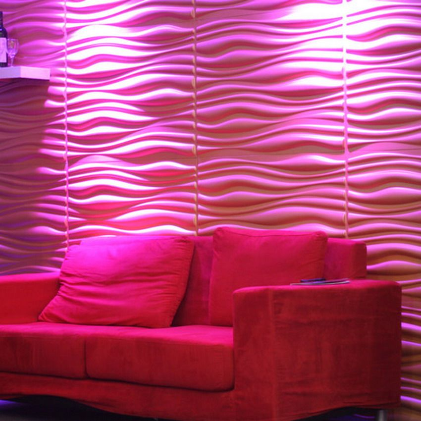 Nice Pink Colored For 3d Wall Decor Art Wallpaper Interior