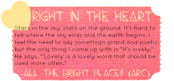 All The Right Places All The Bright Places Quotes Book Qoutes Sayings
