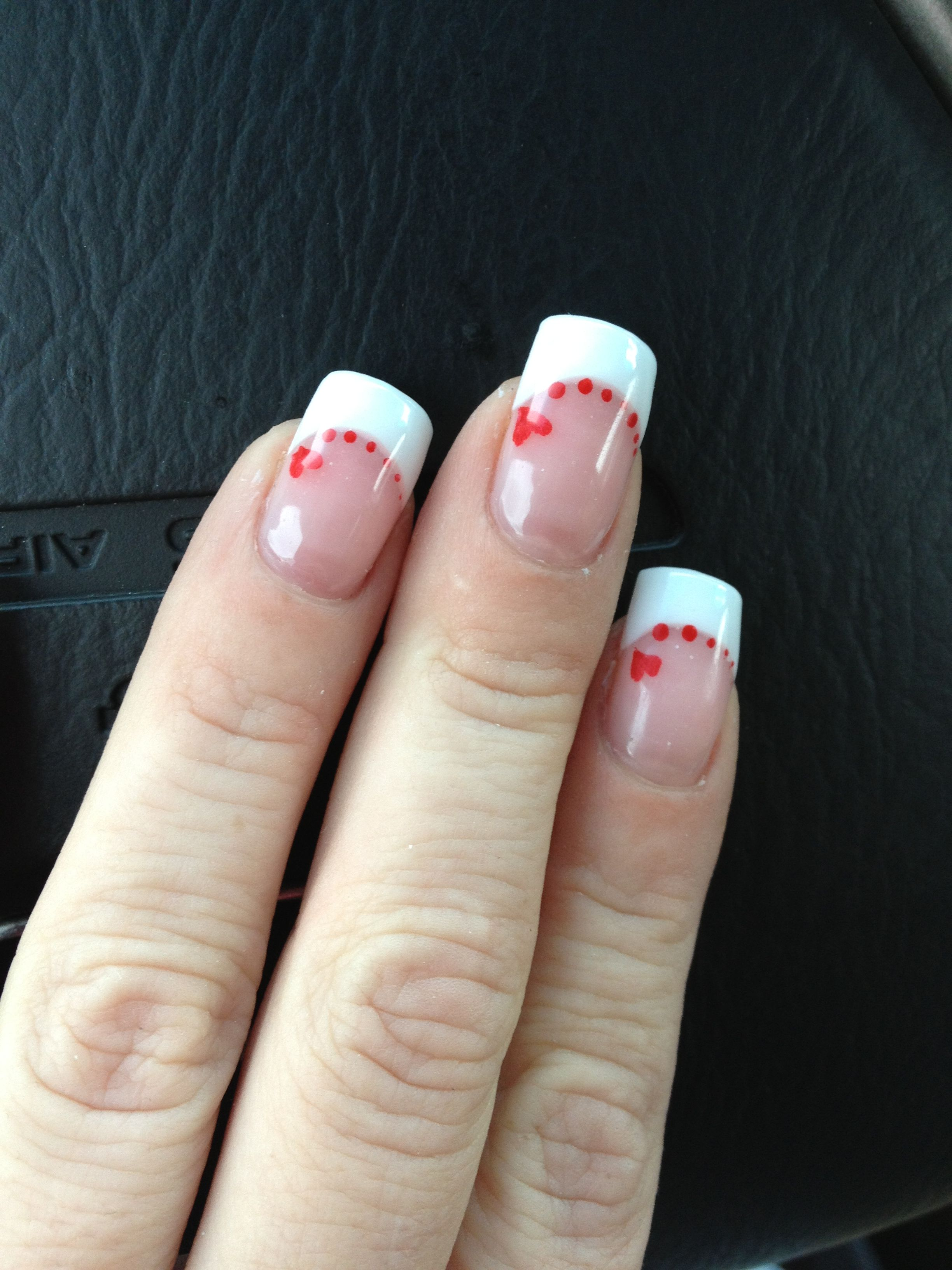 cute nail art designs for valentineus day red accents manicure