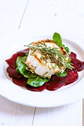 Photo of Beetroot carpaccio with gratinated goat cheese – beetroot -…