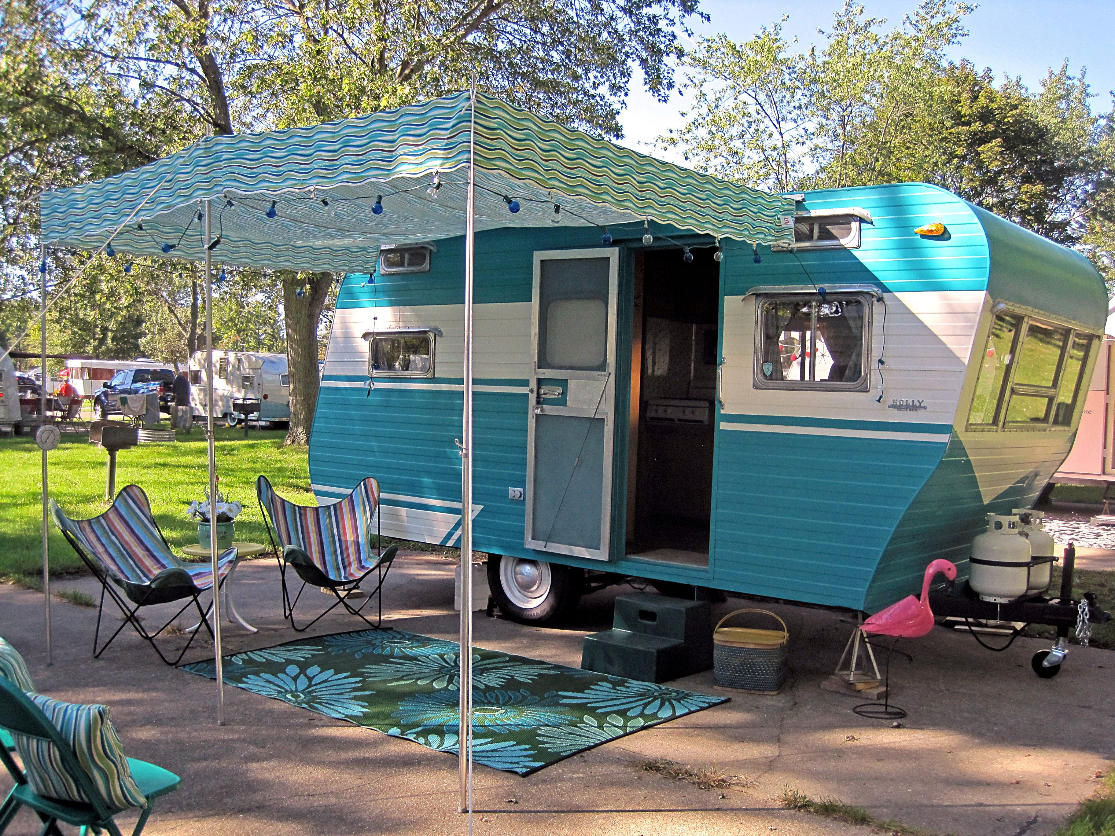 Pin By Julie Bennett On Pink Flamingo Awnings Vintage Camper Custom Awnings Vintage Campers Trailers