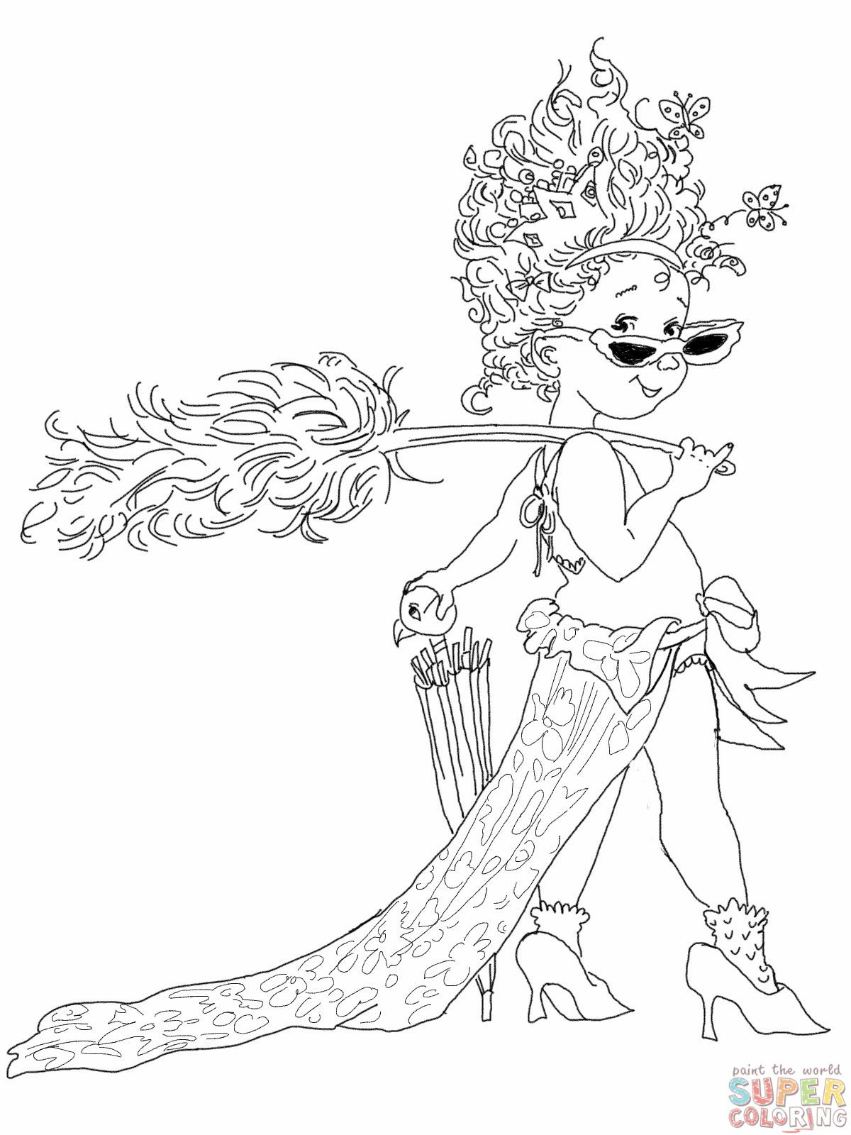 Fancy Nancy With Umbrella Coloring Online Super Coloring Umbrella Coloring Page Coloring Pages Fancy Nancy