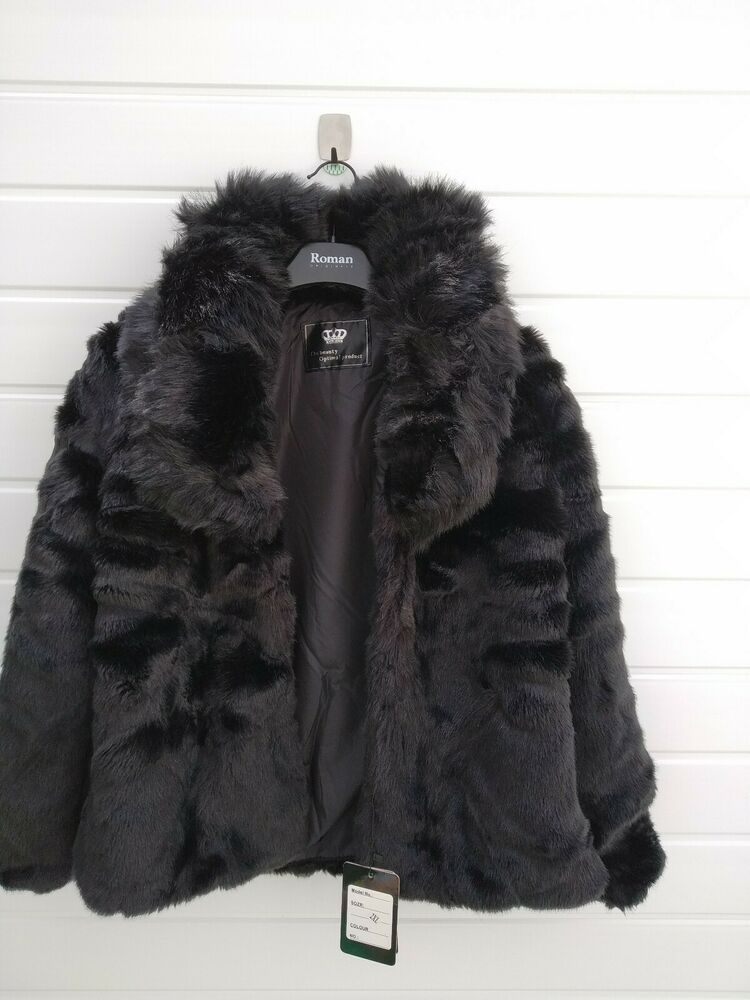 Find Many Great New Used Options And Get The Best Deals For Ladies Black Faux Fur Size 12 The Beauty Optimal Produ Casual Coat Jackets For Women