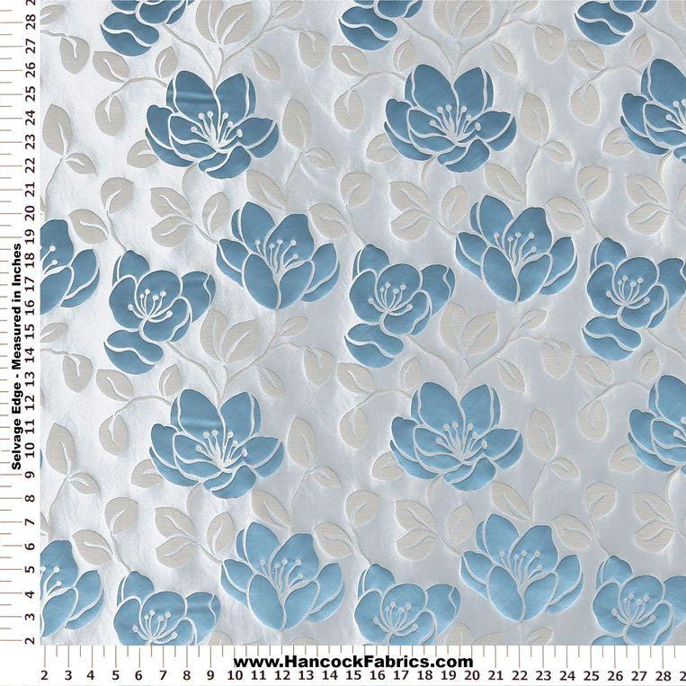 Mesaline Fl Teal Home Décor Fabric Mediumweight Multi Purpose Prints