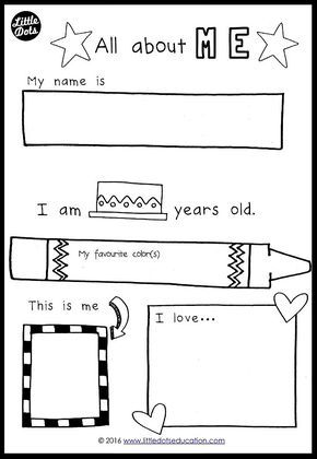 Free All About Me Preschool Theme Printable For Pre K Or