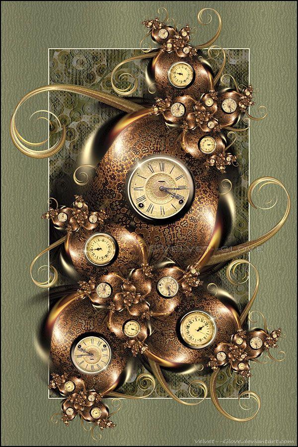 Fractal Timepiece by Velvet--Glove on DeviantArt | Velvet glove, Fractals, Time piece