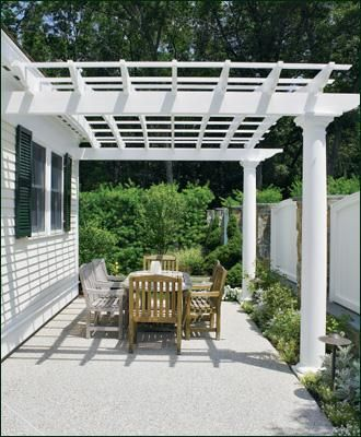 Attached Two Column Pergola This Two Column Attached Cellular