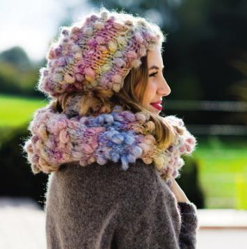 Mütze Beanie Und Schal Loop Stricken Mit Noppen Wolle Passione